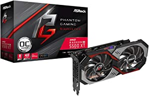 ASRock Phantom Gaming D Radeon RX 5500 XT 8G OC Video Card, RX5500XT PGD 8GO