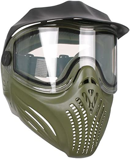 Amazon Com Invert Helix Thermal Paintball Goggles Mask Olive Sports Outdoors