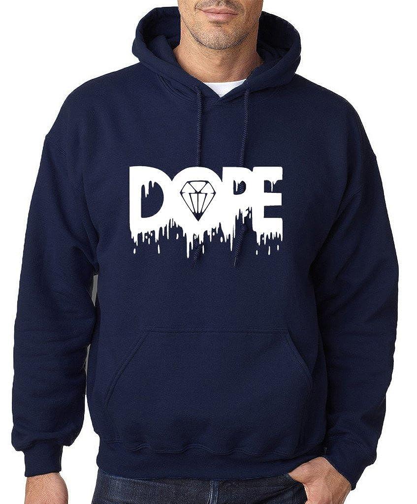 Sudadera con capucha para hombre, con estampado de diamante derritiéndose y palabra Dope, todos los tamaños y colores, color blanco: Amazon.es: Ropa y ...