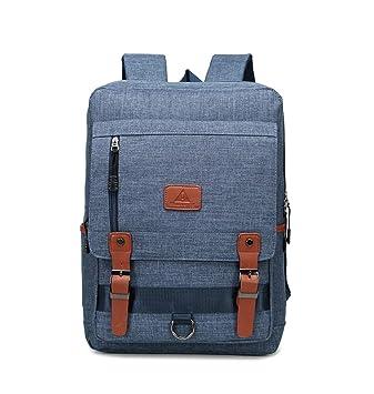 Xiuy Fashion Negocios Mochilas Grandes Mochilas Escolares Color sólido Mochila Ordenador Diario Viajes Bolsas Resistente Nailon Backpack para Hombres y ...