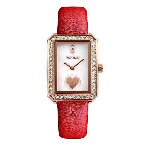 amstt Mujer Women Girls niña metal Strap Relojes Mujer Reloj De Pulsera Rose Gold: Amazon.es: Relojes