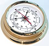 Solaris Brass Time & Tide Clock