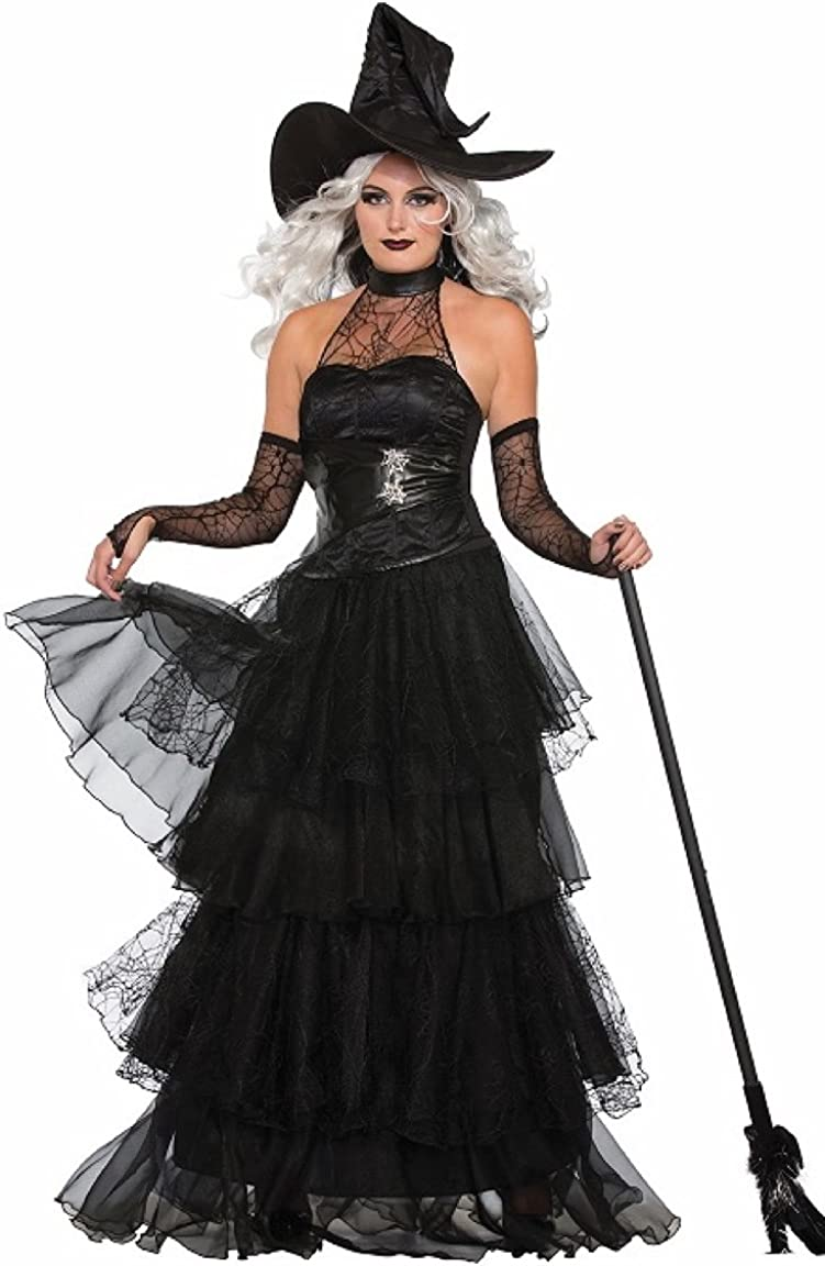 Fun World Women/'s Witches Brew Adult 4 Piece Witch Costume Size M//L 10-14