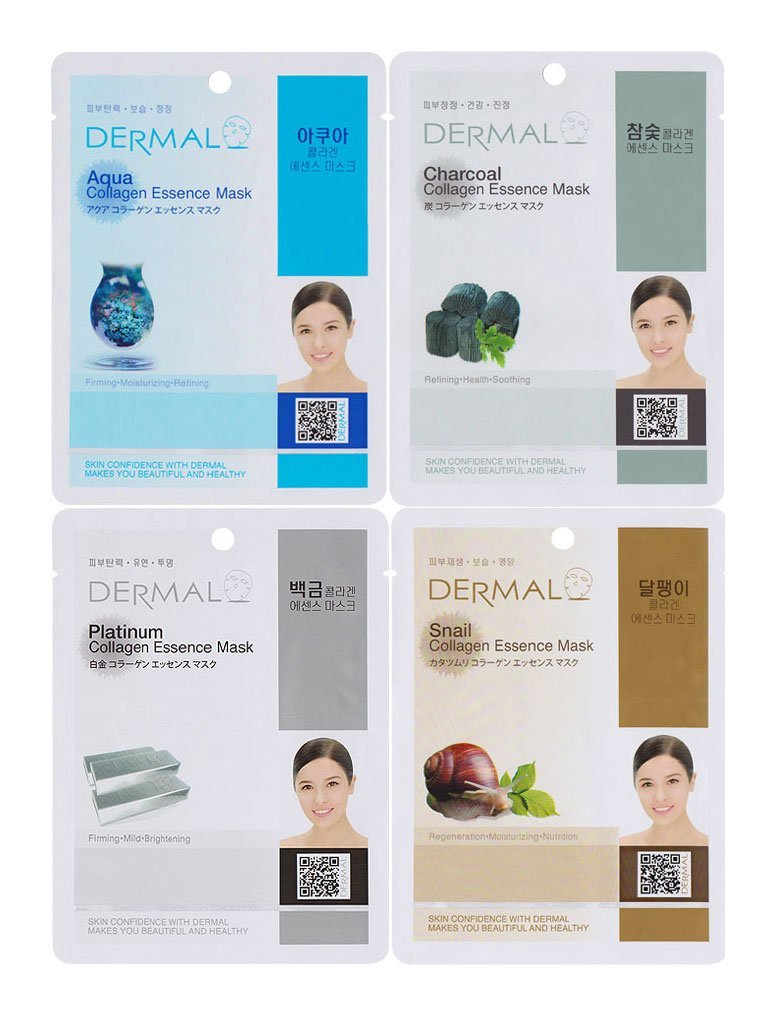 Dermal Dermal Charcoal Collagen Essence Mask (10 Pieces) Skinovage PX Set: HY-OL 50ml + Phytoactive Combination 30ml + Serum 10ml + Cream 50ml + Fluid 3x2ml 7pcs