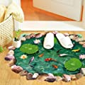 Iuhan® Fashion Fish Ponds Mural Ground Stickers Decal Room Home Decor