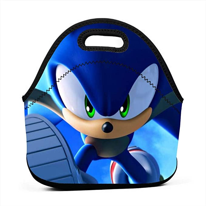 SONIC BOOM TAILS KNUCKLES SCHOOL TOTE BAG NWT SONIC THE HEDGEHOG LUNCH BOX