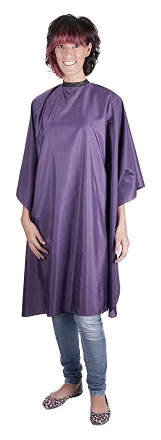 Professional PURPLE Sleeveless Hairdressing Gown - Water-Repellent ...