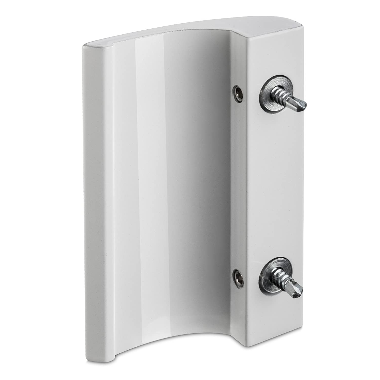 Balkont/ürgriff SEJA silber 82 x 52 x 20 mm Aluminium Balkont/ür-Griff von SO-TECH/®
