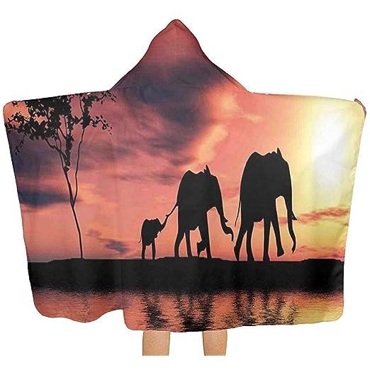 Wen-Shop Siluetas De Elefante Africano Poncho Con ...