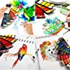 Watercolor-Paint-Set-Foldable-42-Colors-with-Brush-Pen-and-Palette-Portable-Travel-Mini-Solid-Watercolor-Painting-Kit-Gift-for-Adults-Kids-Drawing-Artists-Field-Sketch-Set-Outdoor-Painting-Supplies