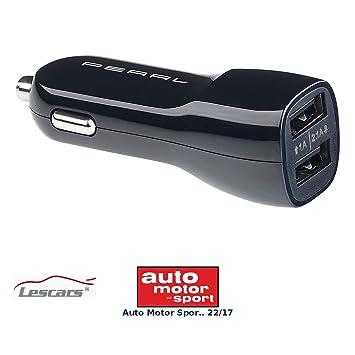 Lescars - Conector USB Coche: Cargador de Coche USB con ...