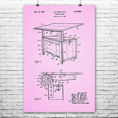 Architect Drafting Table Poster Art Print, Architect Poster,