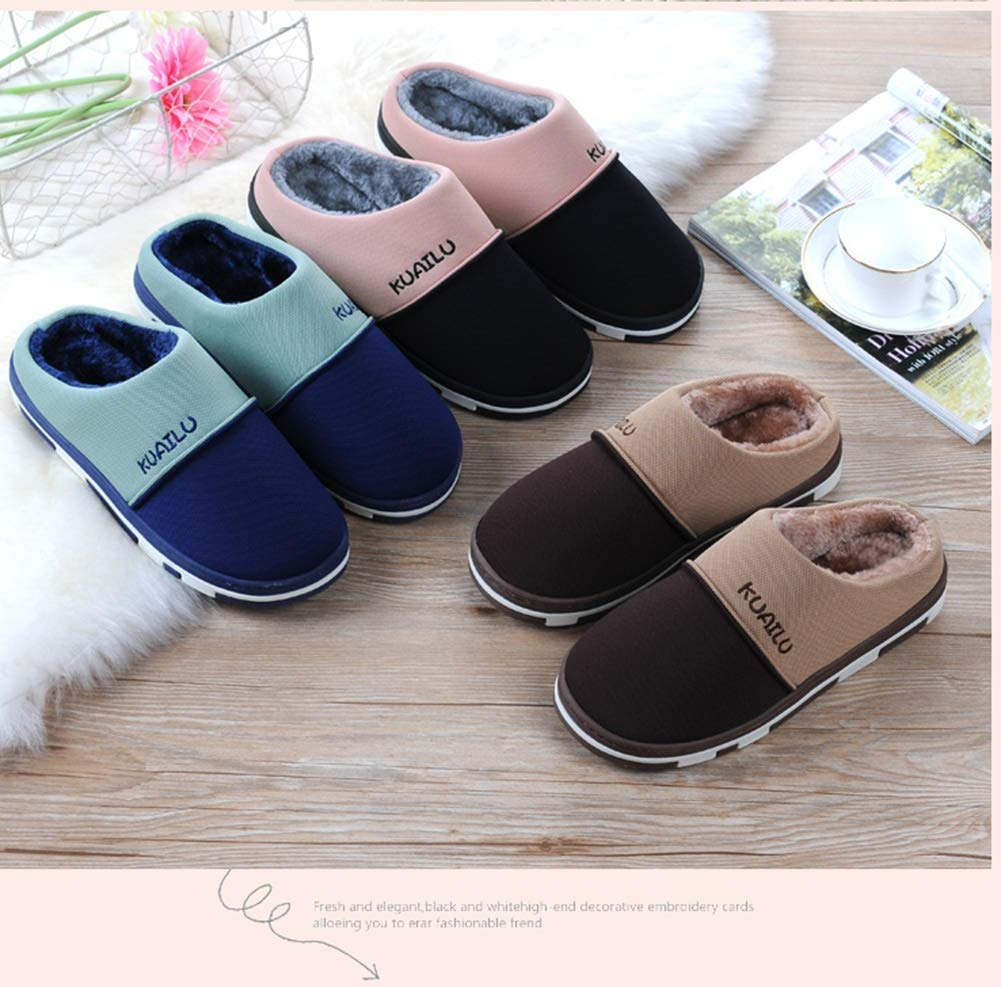 EU 40//41 Black MTXA Slippers Winter Indoor Cotton Slippers Plush Slippers Warm Soft Light Plush Slippers Cute Home Non-Slip Plush Slippers Ladies