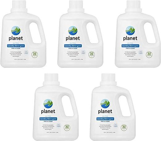 Detergente para la colada Planet Ultra Liquido – 100 oz – libre y ...