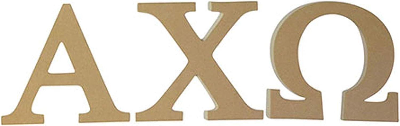 Alpha Chi Omega Sorority 7.5 Inch Unfinished Wood Wooden Letter Set AXO