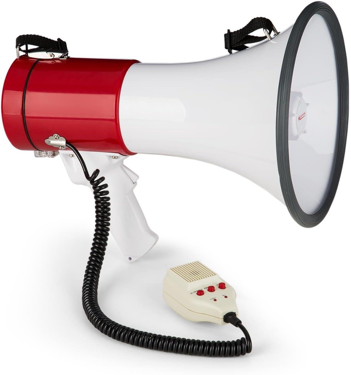 Auna megafono auna MEGA080USB Rosso