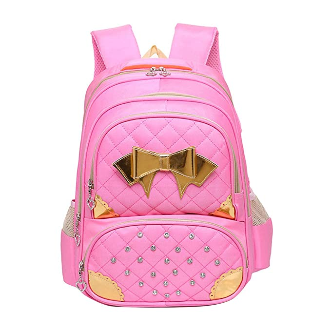 Zhhlinyuan Mochilas Escolares Impermeable Princesas Rosa Viaje Bolso Ligera de Escuela School Bag para chicas: Amazon.es: Ropa y accesorios