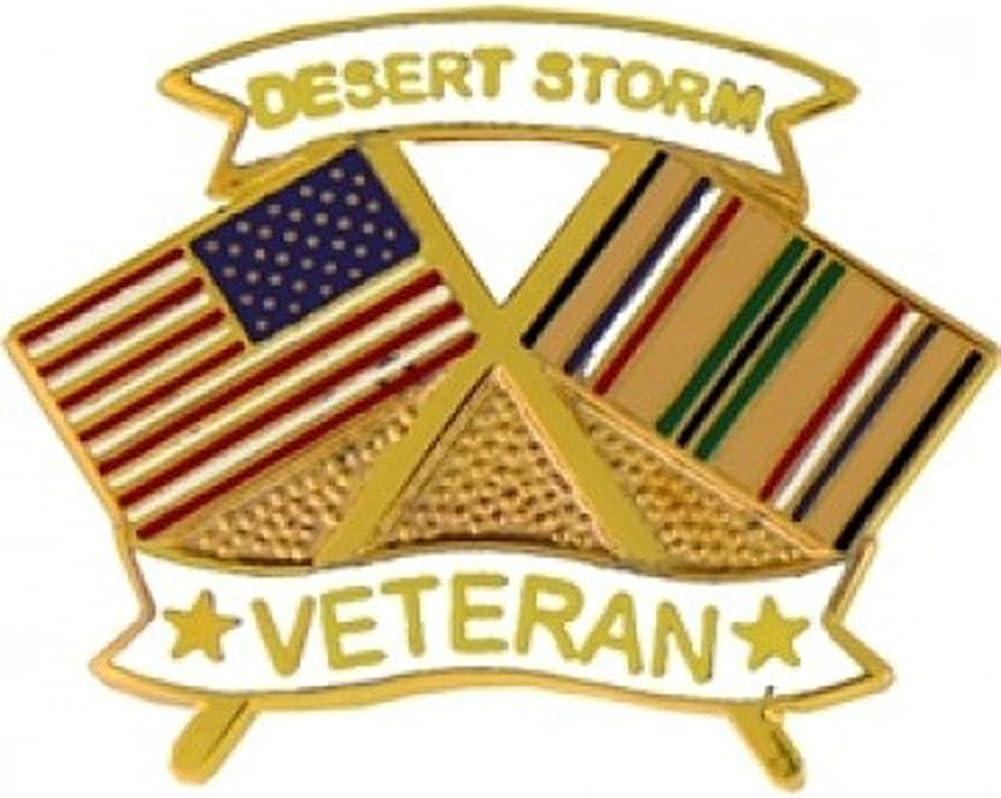: Desert Storm Veteran Lapel or Hat Pin: Clothing