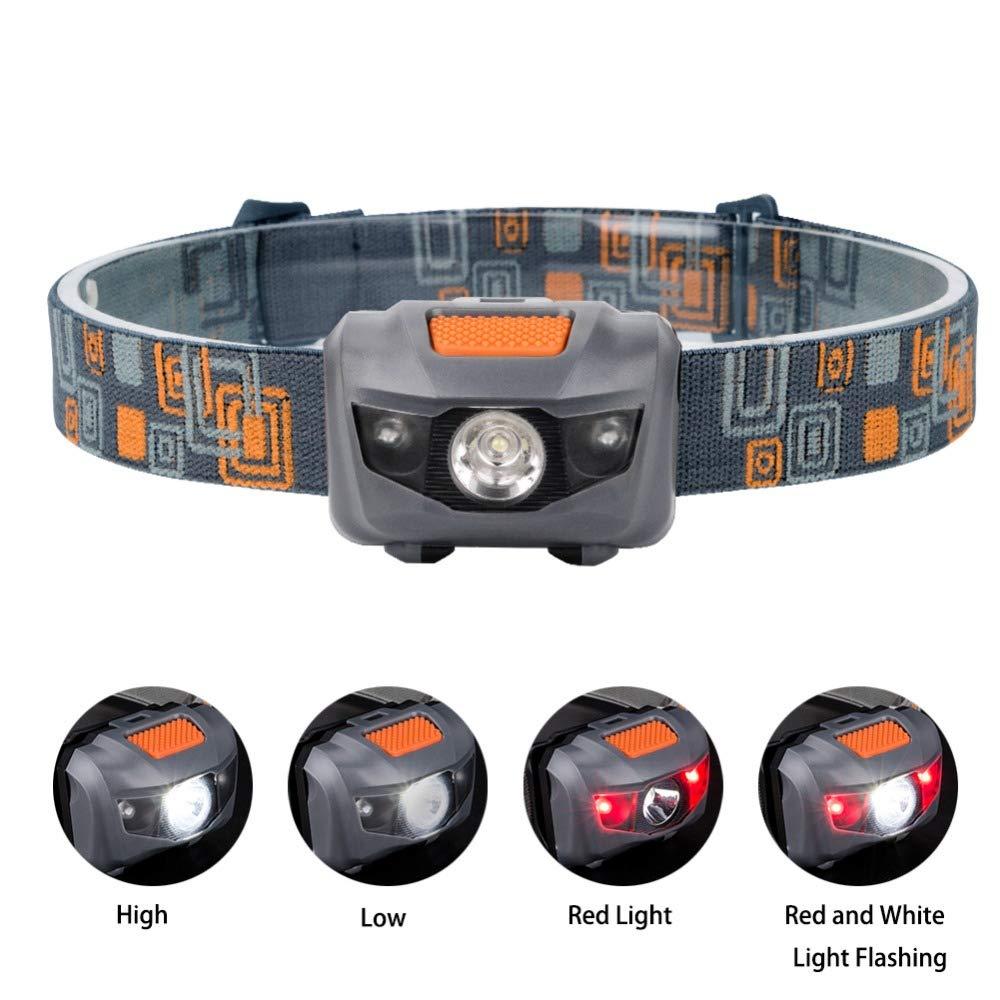 Desarrollado por 3 pilas AAA BESTSUN Linterna frontal LED potente linterna de cabeza LED ligero no incluidas faros LED correr