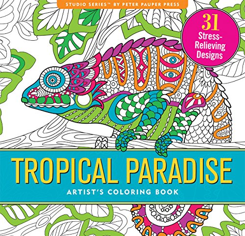 Tropical Paradise Adult Coloring Book (31 stress-relieving designs) (Studio)