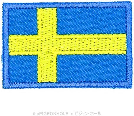 / divertido con banderas. Svenska Flaggan; Suecia recuerdo azul, amarillo Applique # Estocolmo de Suecia sueco escandinavo Nordic Cruz /regalo Sew de hierro en parche bordado/ /bandera nacional sobre
