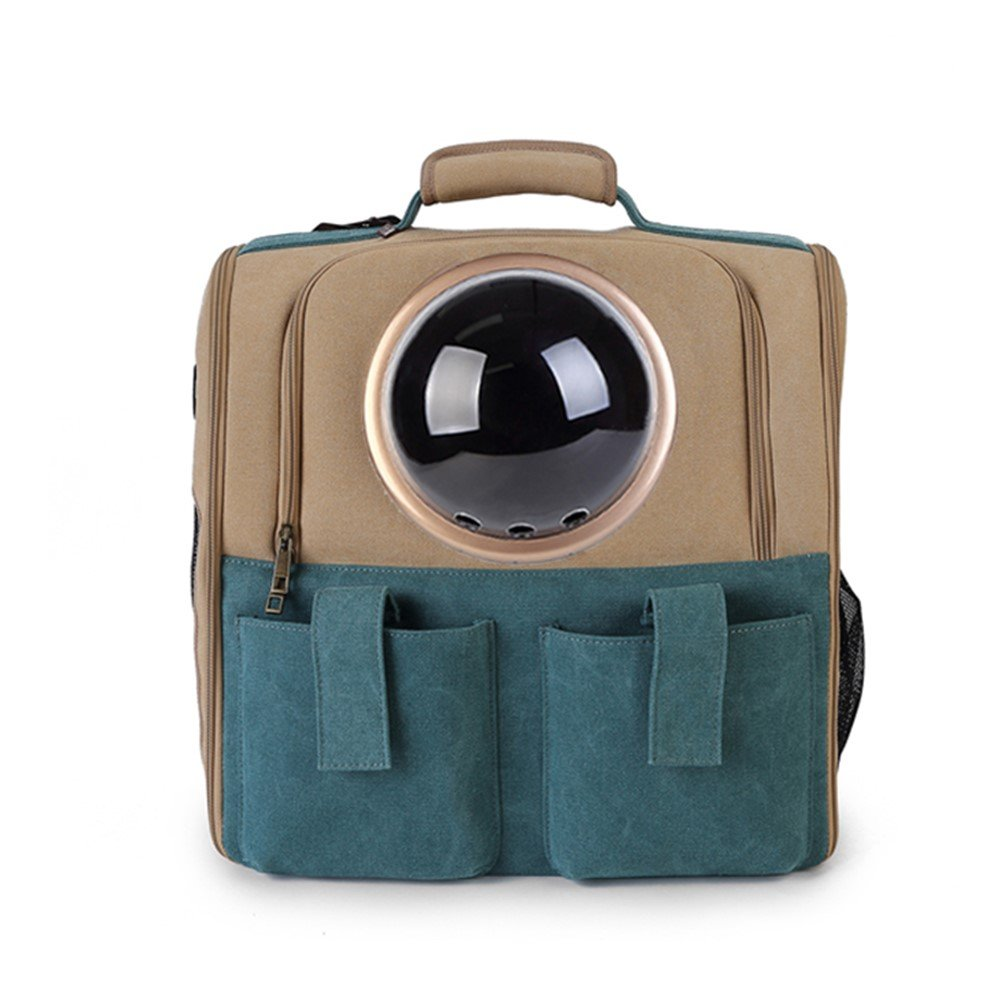 gold Pet Cat Out Backpack Rucksack Portable Pack Space Capsules Cat Backpack Dog Outgoing Box Portable Backpack With 5 Accessories Net Weight 1.6KG (color   gold)