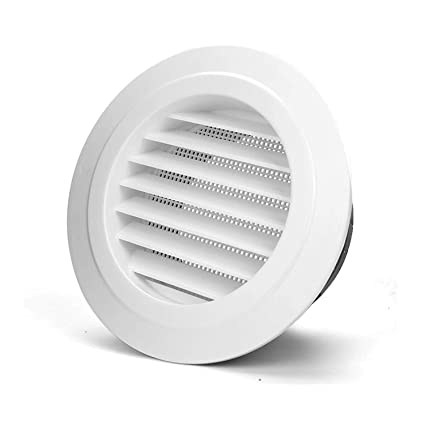 PartsExtra 100mm/4'' Air Vent, Round Soffit Vent ABS Louver
