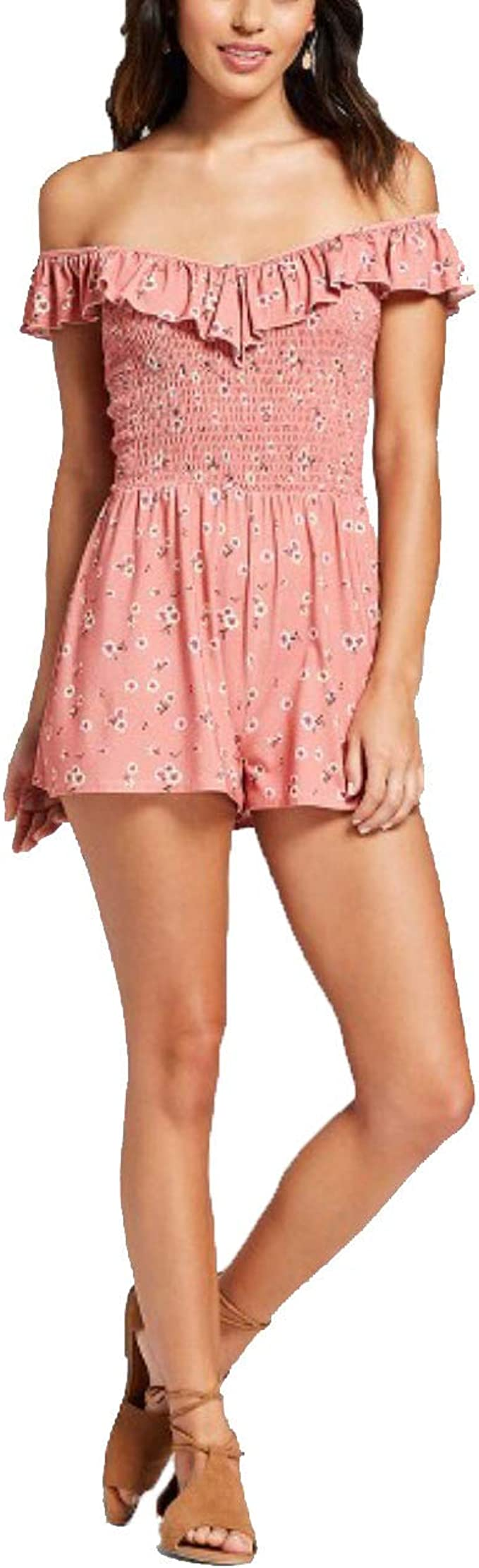 Womens romper sleeveless brand Xhilaration new with tags color brick red floral