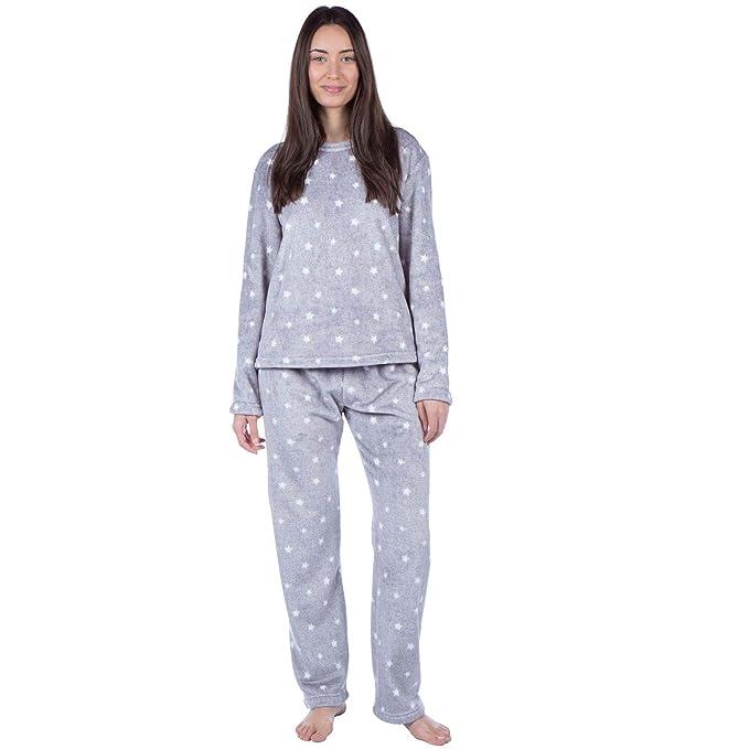 MASQ Womens Soft Warm Pyjama Set  Amazon.co.uk  Clothing 73fc9cf34