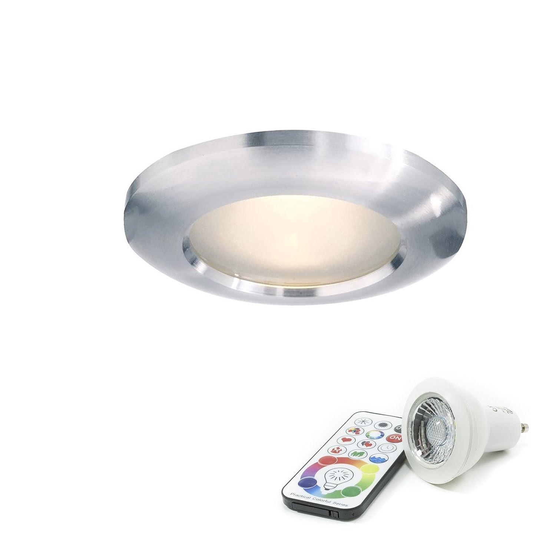 Faretto a tenuta stagna IP65 doccia bagno lampada led gu10 6w RGBW cromoterapia Planetitaly
