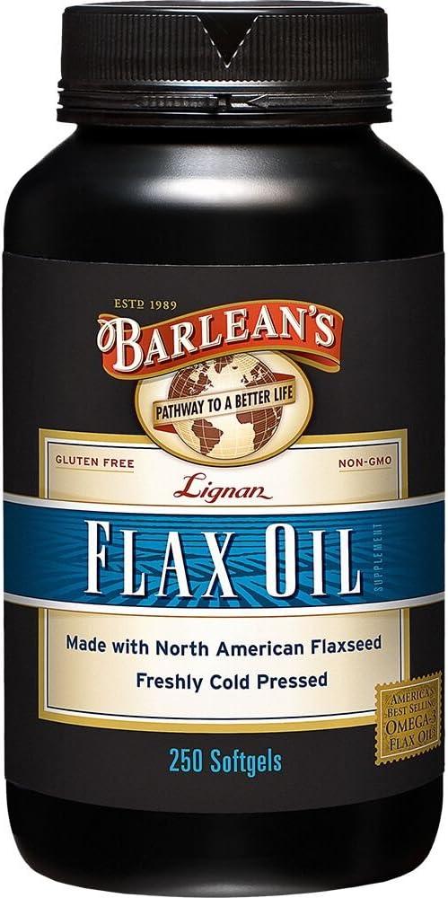Barlean s Organic Oils Lignan Flax Oil, 1000 mg ea, 250 Count