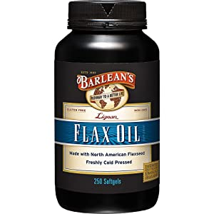 Barlean's Lignan Flax Oil,1000 mg ea, 250 Count