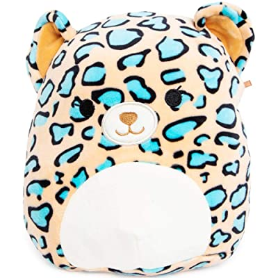 Squishmallow Kellytoy 8 Inch Liv The Teal Leopard: Toys & Games