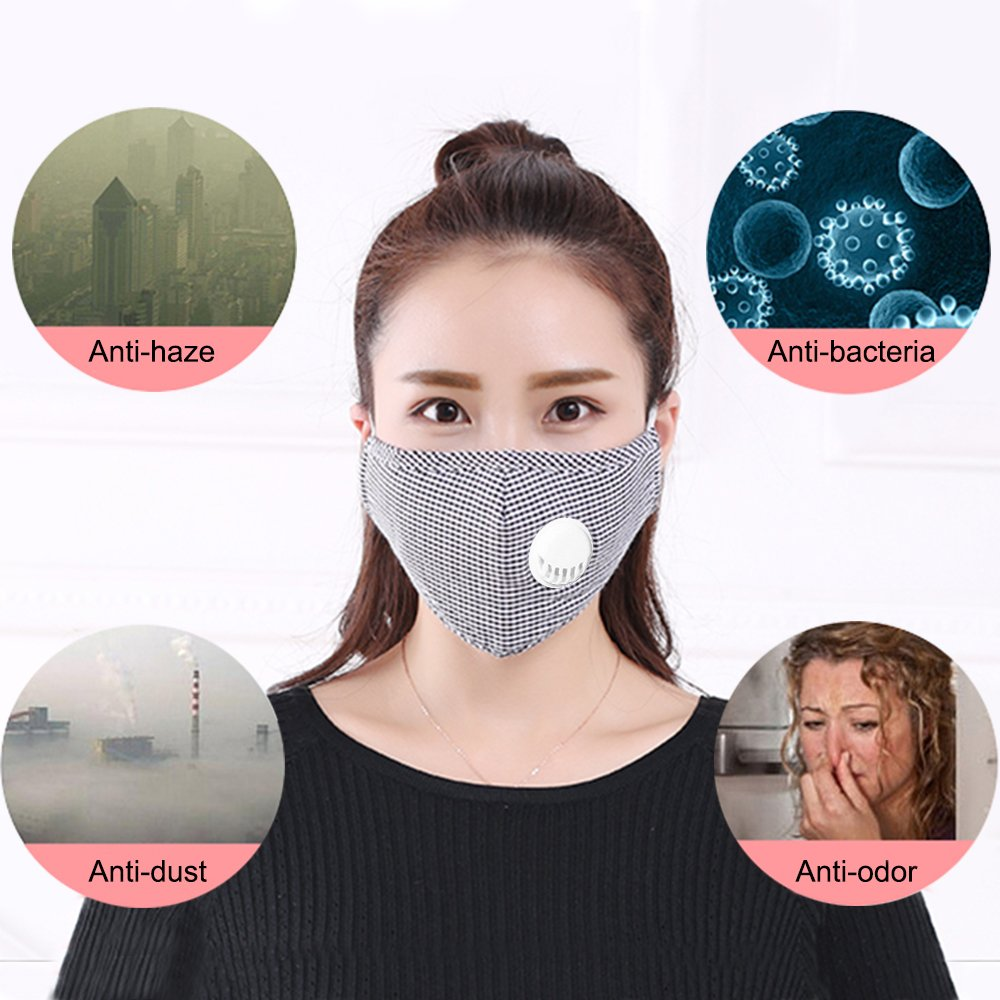 lot masque anti pollution lavable