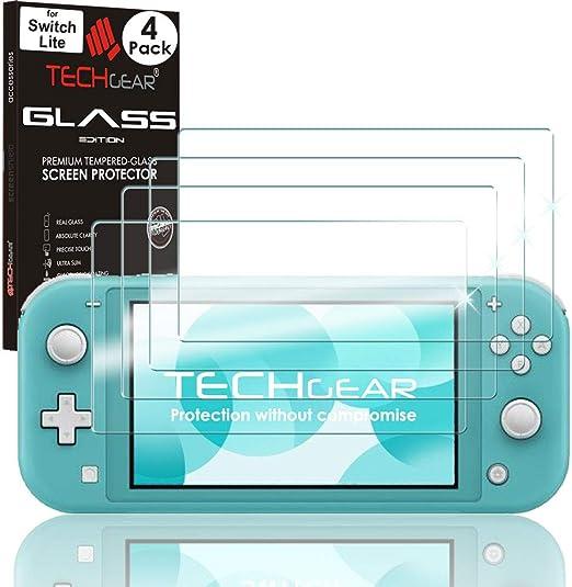 TECHGEAR (4 piezas) Switch Lite Vidrio - Protector de Pantalla de ...