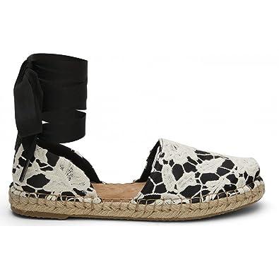 2df841f24a69 TOMS Black Floral Lace Katalina Espadrilles  Amazon.co.uk  Shoes   Bags