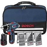 Bosch Akkubohrschrauber-Set GSR 10,8-2-LI 10,8V 39-teiliges Zubehörset, 2x Akku (1,5 Ah)