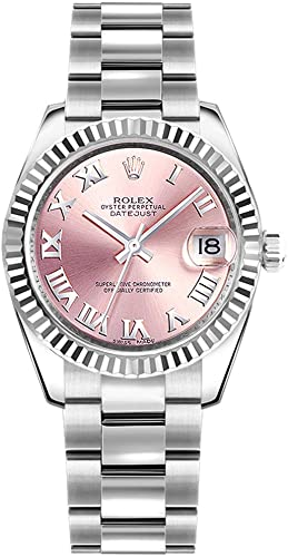 Amazon.com Rolex Datejust 31 Pink Roman Numeral Dial Oyster