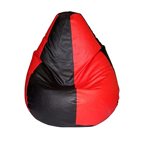 Comfort Bean Bags XXXL Bean Bag Cover  Red  amp; Black