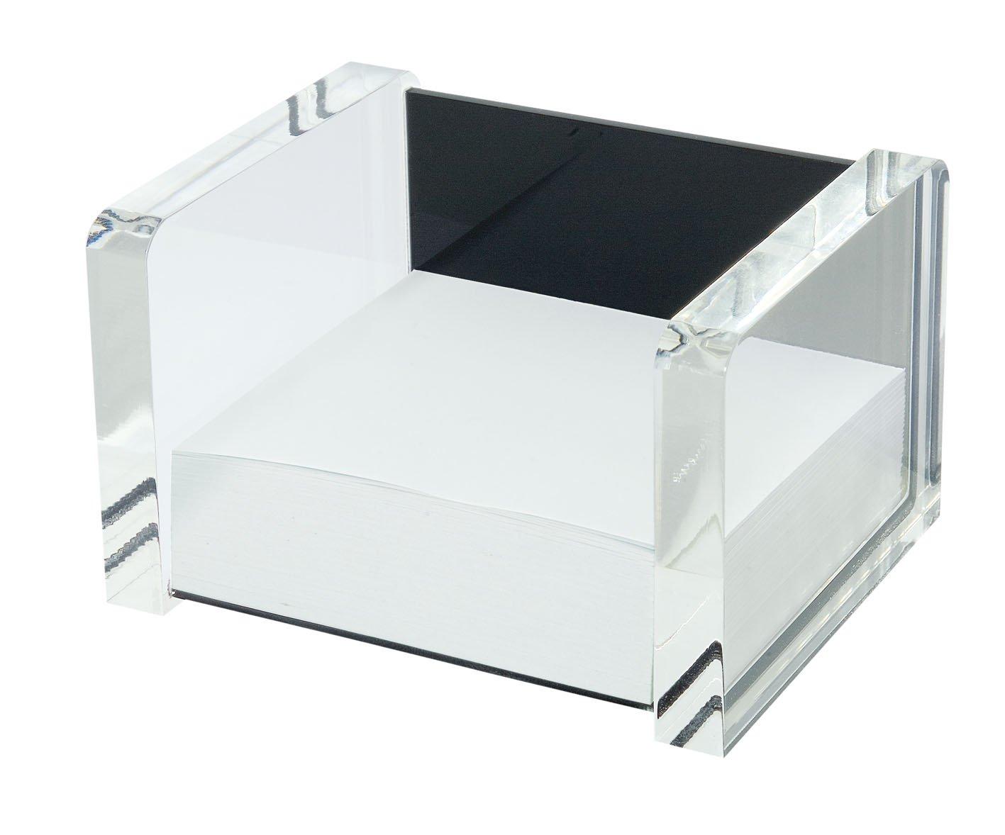 Wedo 0607001 Exclusive Box Foglietti in Acrilico Riempito, Trasparente/Nero