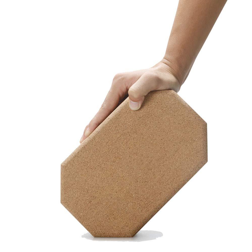 TESITE Hohe Dichte Schaum Ziegel Yoga Balance UnterstüTzung Trainer Ziegelschaum Tanz (Log Farbe 21  14  8,5 cm)