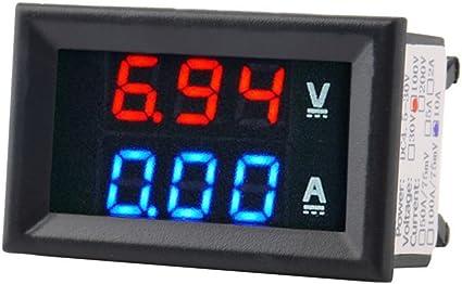"""0.36/"""" JAUNE DEL Digital DC ampèremètre AMP Mini courant panneau mètre DC 0-10 A"""