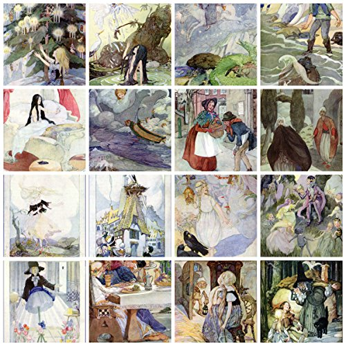 Anne Anderson Vintage Fairy Tale Tiles Collage Sheet # 102