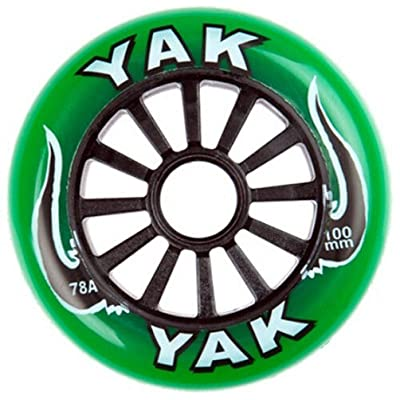 Yak 100mm x 78a Classic Inline/Race/Scooter Wheel, 10 Wheels (Green on Black) : Sports & Outdoors