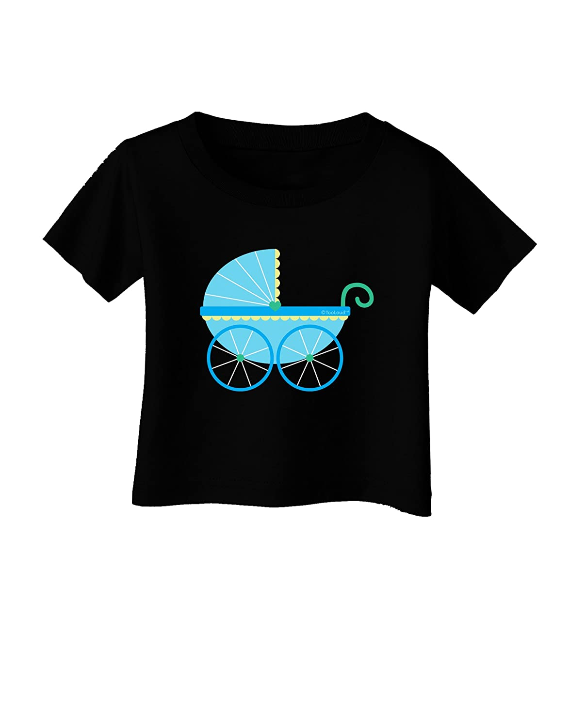 TooLoud Baby Boy Carriage Infant T-Shirt Dark