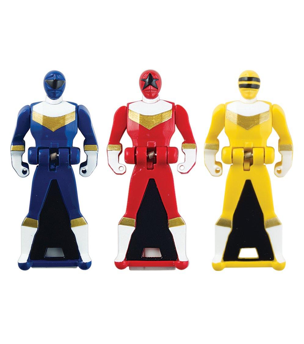 Power Rangers Super Megaforce - ZEO Legendary Ranger Key Pack, rot Blau Gelb