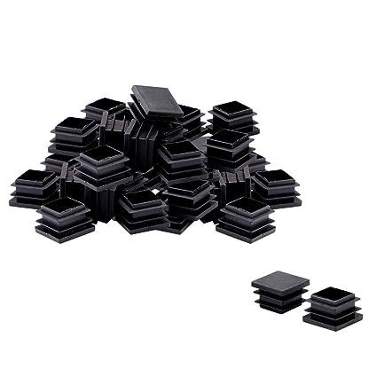 Sourcingmap 100 pezzi 25 x 25 mm in plastica quadrata tappi di copertura per tubi di dimensioni interne da 2,2 cm a 2,4 cm protezione per pavimenti