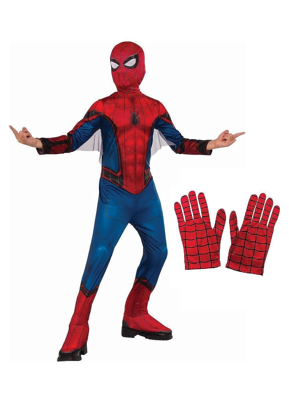 design senza tempo grande liquidazione nuovi prezzi più bassi Big Boys' Spiderman Homecoming Costume and Gloves Set
