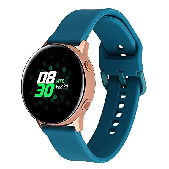 Klaas 20mm Width Silicon Band Compatible with Samsung Galaxy Watch 40mm 42mm/Gear Sport S2/Amazfit Bip/Huawei Smart Watch Quick Release Strap ...