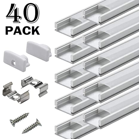 Amazon.com: Canales de aluminio para tira de luces LEDES ...